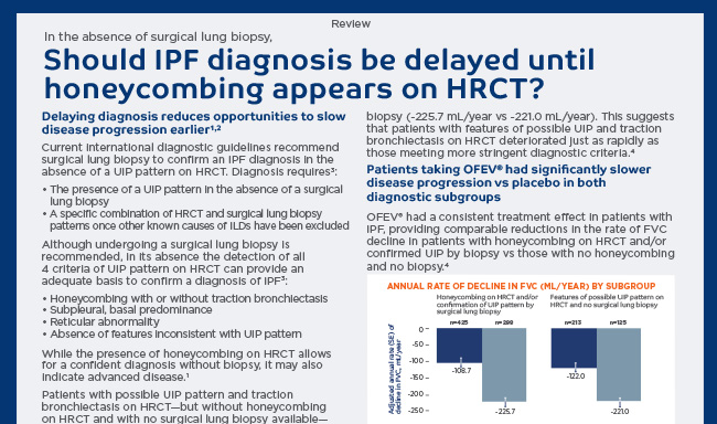 Is honeycombing in an HRCT, the sole detector of IPF?