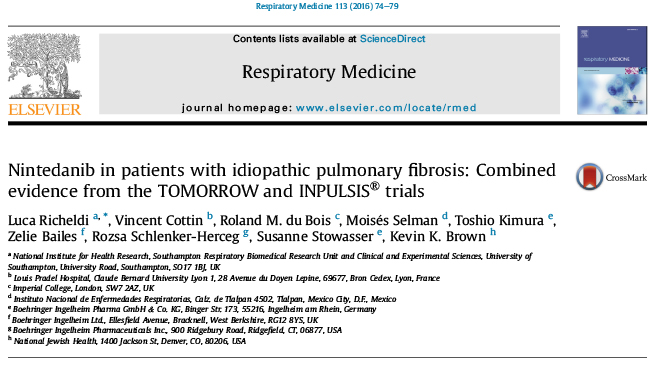 Combined evidence from the TOMORROW and INPULSIS® trials