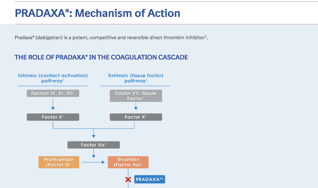 Pradaxa:Mechanism of Action