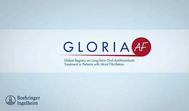 Pradaxa GLORIA-AF infographic animation (abbreviated version without RE-LY EU label analysis)